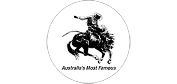 Australia's Most Famous icon. A man riding a horse